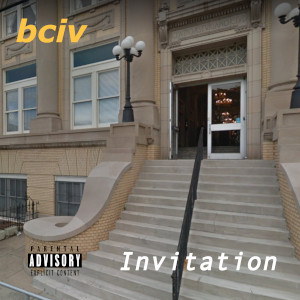 Invitation album cover. The entry way to a building in Ybor city Florida. The doors are open.